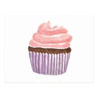 Chocolate Cupcake with Pink frosting Postcard