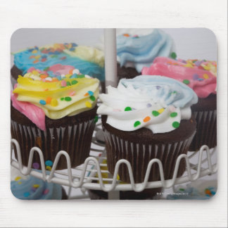 Chocolate cupcakes on a cake stand 2 mouse pad