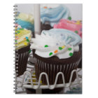 Chocolate cupcakes on a cake stand 2 notebook