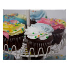 Chocolate cupcakes on a cake stand 2 poster