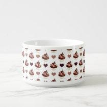 chocolate cupcakes pattern bowl