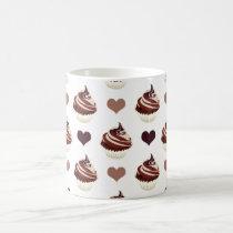 chocolate cupcakes pattern coffee mug