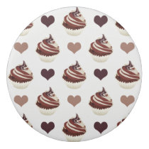 chocolate cupcakes pattern eraser