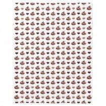 chocolate cupcakes pattern fleece blanket