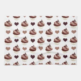 chocolate cupcakes pattern hand towel