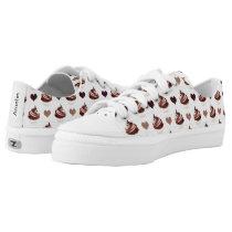 chocolate cupcakes pattern Low-Top sneakers