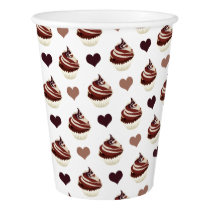 chocolate cupcakes pattern paper cup
