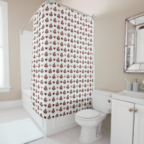 chocolate cupcakes pattern shower curtain