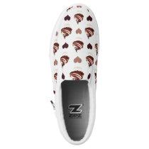 chocolate cupcakes pattern Slip-On sneakers