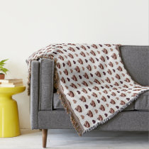 chocolate cupcakes pattern throw blanket