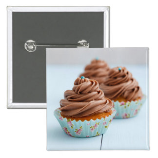 Chocolate cupcakes pinback button