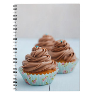 Chocolate cupcakes spiral notebook