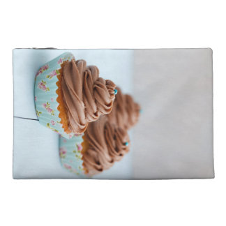 Chocolate cupcakes travel accessory bag