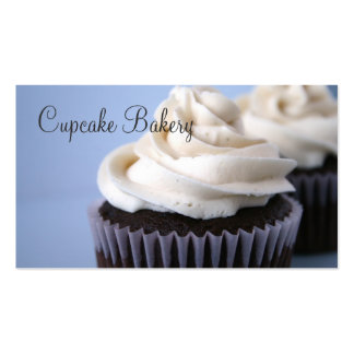 Chocolate Cupcakes Vanilla Frosting Business Cards
