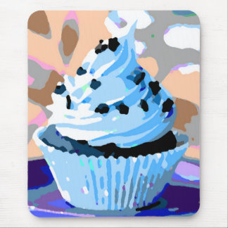 Chocolate Cupcakes with Blue Buttercream Mouse Pad