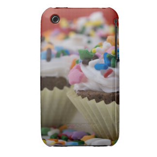 Chocolate cupcakes with icing and sprinkles, Case-Mate iPhone 3 cases