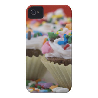 Chocolate cupcakes with icing and sprinkles, iPhone 4 Case-Mate cases