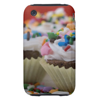 Chocolate cupcakes with icing and sprinkles, tough iPhone 3 case