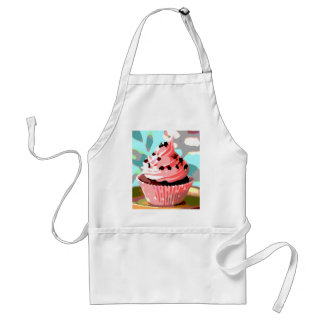 Chocolate Cupcakes with Pink Buttercream Adult Apron