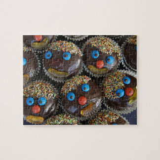 Chocolate cupcakes with Sugary Faces Jigsaw Jigsaw Puzzle