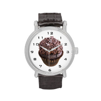Chocolate Curl Chocolate Cupcake watch Watches