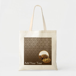 Chocolate Damask Desserts Tote Bag