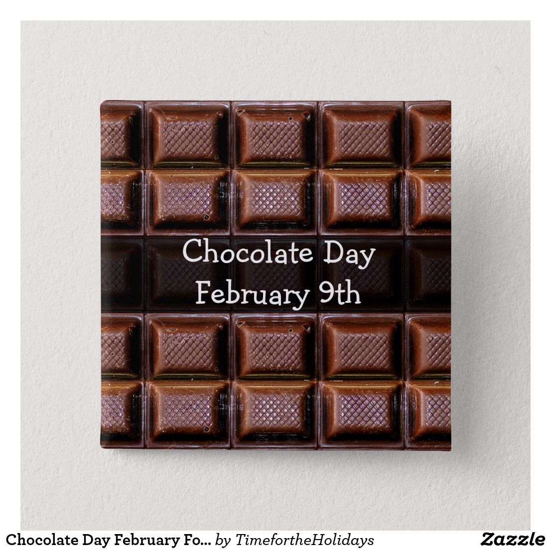 Chocolate Day February Food Holiday Button