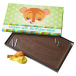 Chocolate de encargo del mensaje del tigre lindo