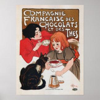 Chocolate de Francais de Chocolats french Póster