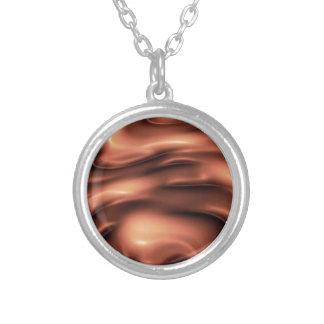 Chocolate de fusión collar plateado