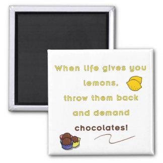 Chocolate de la demanda imanes para frigoríficos
