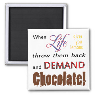 Chocolate de la demanda imán cuadrado