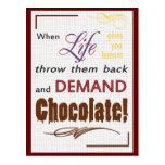 Chocolate de la demanda postal