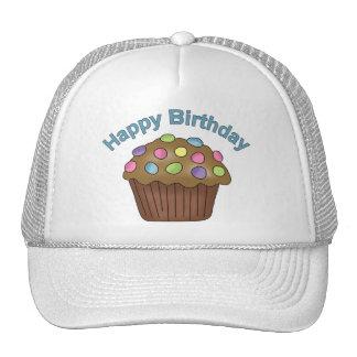 Chocolate de la magdalena del cumpleaños gorra