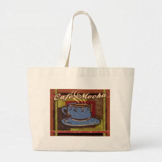 Chocolate de la moca del café bolsas de mano