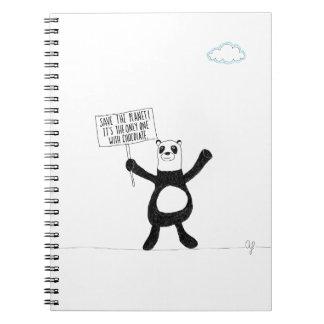 Chocolate de la panda note book