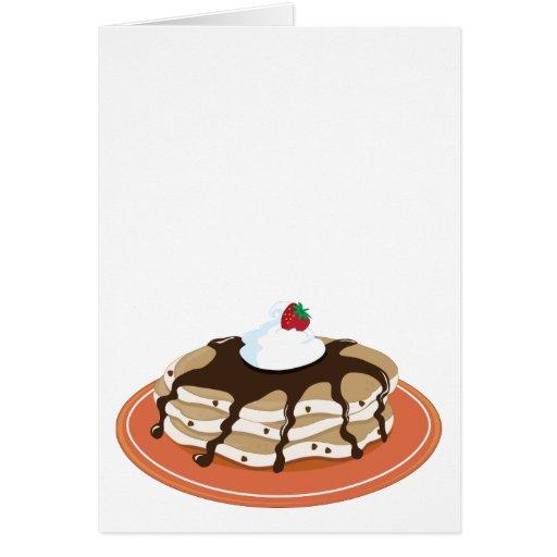 Chocolate de las crepes tarjeta de felicitación