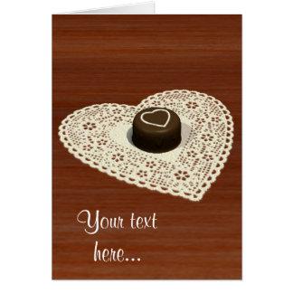 Chocolate de las tarjetas del día de San Valentín