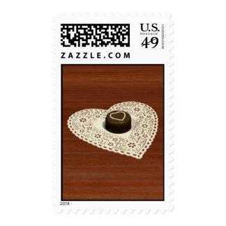 Chocolate de las tarjetas del día de San Valentín Franqueo