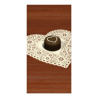 Chocolate de las tarjetas del día de San Valentín Tarjetas Personales