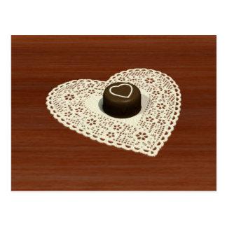Chocolate de las tarjetas del día de San Valentín Tarjeta Postal