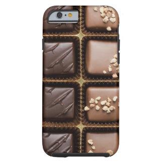 Chocolate de lujo hecho a mano en una caja funda de iPhone 6 tough