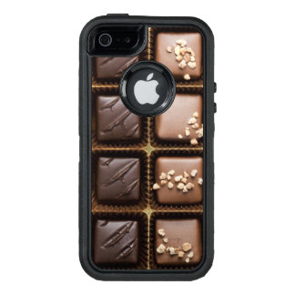 Chocolate de lujo hecho a mano en una caja funda otterbox para iPhone 5/5s/SE