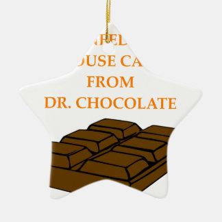 chocolate adorno de cerámica en forma de estrella