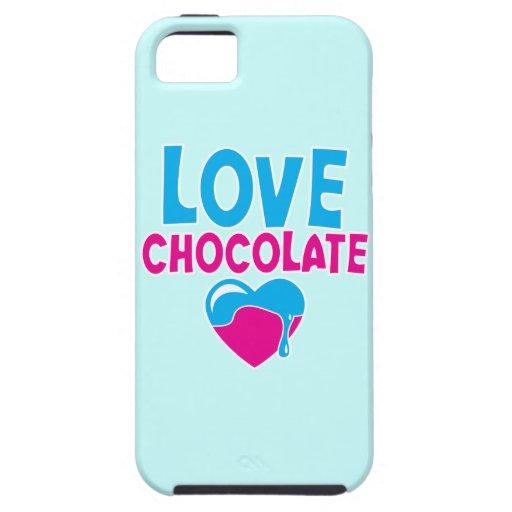¡CHOCOLATE DEL AMOR! con el corazón del goteo iPhone 5 Funda