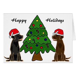 Chocolate del BA y tarjetas de Navidad negras de