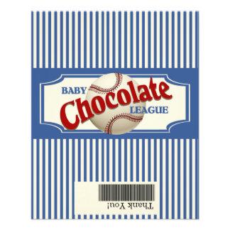 Chocolate del bebé del béisbol tarjeta publicitaria