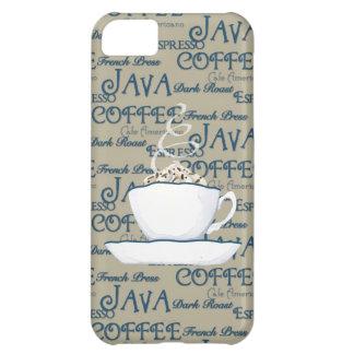 Chocolate del café express de Java del café que cu Funda Para iPhone 5C