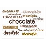 Chocolate del chocolate del chocolate postal
