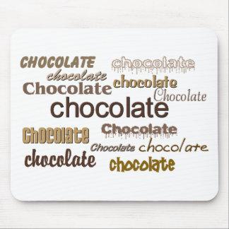 Chocolate del chocolate del chocolate alfombrillas de raton